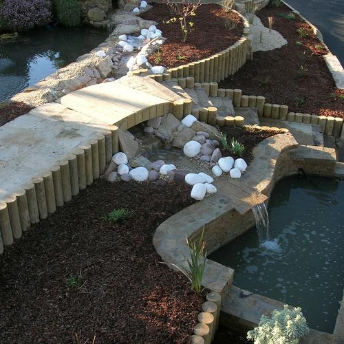 Double bassin avec cascade