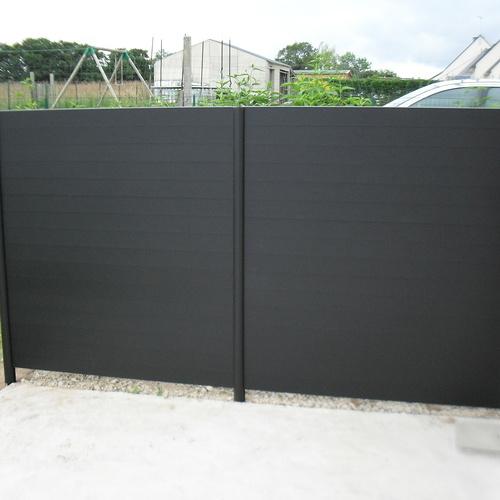 Panneaux en aluminium noir