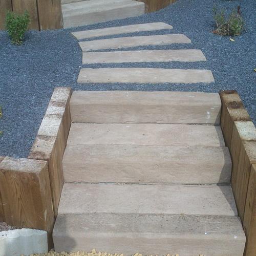 pierre reconstituee imitation bois