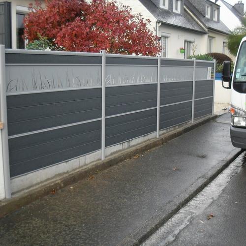 Pose d''un clôture en bois à Saint-Brieuc (22)