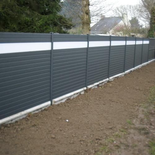 Pose d''une clôture en aluminium à Saint-Julien (22)