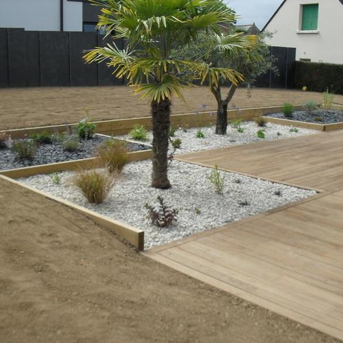 Terrasse en pin traité, sans noeuds sur Plérin