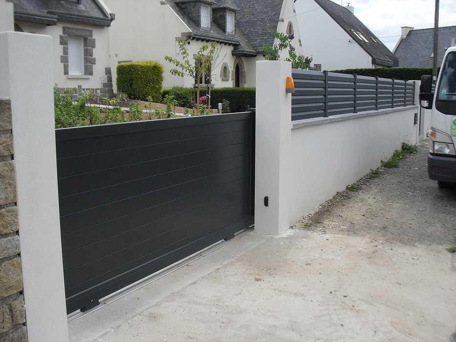 cloture et portail aliminium noir 0