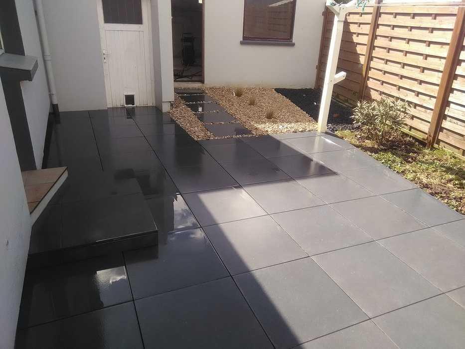 Réalisation d''une terrasse en dalles céramique - Trégueux (22) 0