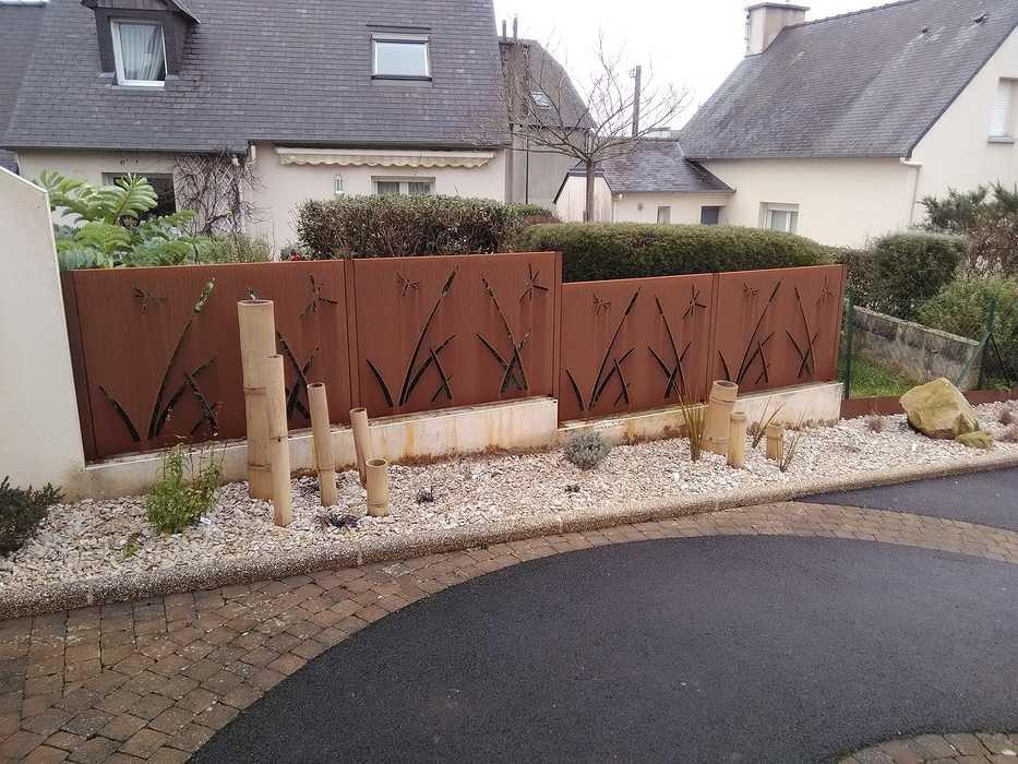 Intégration d''un élément décoratif en acier corten - Saint-Brieuc (22) 0