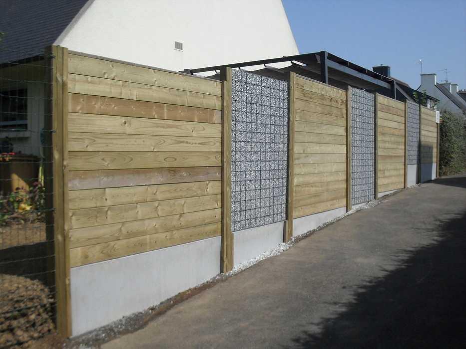 Réalisation d''une clôture en bois à Ploufragan (22) 0