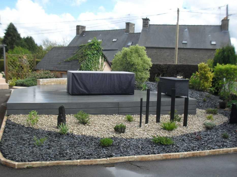 Terrasse composite à Plaintel (22) 0